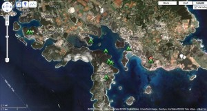 map campsites in Istria